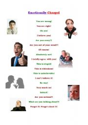 English Worksheets: Emotionally Charged: Everyday Expressions