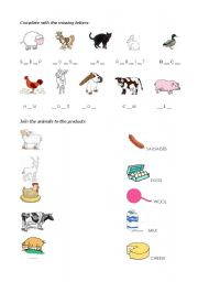 english worksheets farm animals. Black Bedroom Furniture Sets. Home Design Ideas