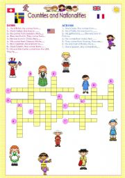 English worksheets: nationalities worksheets, page 15