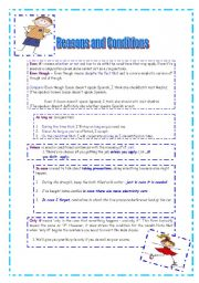 English Worksheets: Reasons and Conditions
