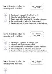 English Worksheets: Connecting Sentences