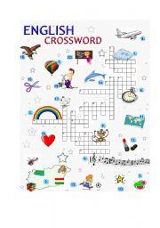 English Worksheets: ENGLISH CROSSWORD - Various
