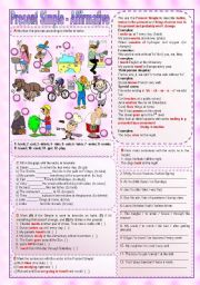 English Worksheet: Present Simple - Affirmative