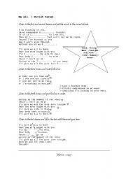 English Worksheet: Song: My all ( Mariah Carey)