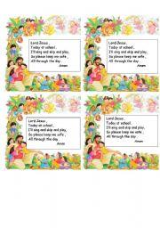 English Worksheets: Prayer