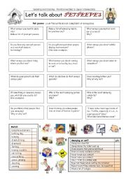 English Worksheets: Let�s talk about PET PEEVES