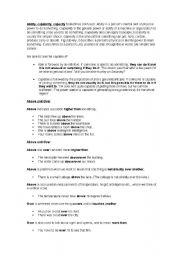 English Worksheets: english usage of many words
