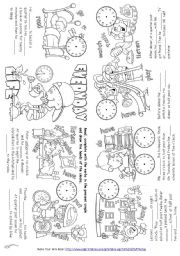 English Worksheet: Everyday Life (Mini Book)