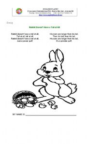 English Worksheet: Easter Day Song