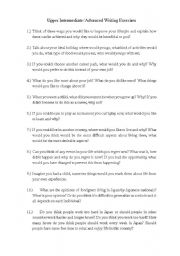 English Worksheets: Upper Intermediate/Advanced Writing Exercises