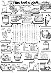 English Worksheets: WORDSEARCH FATS AND SUGARS