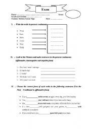 English Worksheets: present continouus