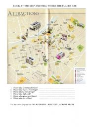 English Worksheets: WHERE IS THE MAIN SQUARE?
