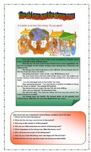 English Worksheets: Reading Comprehension: tale