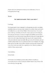 English Worksheets: Mr. Smith is in trouble. What´s your advice?