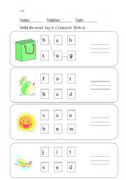 English Worksheets: Build the word