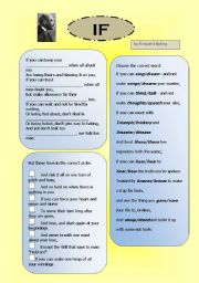 English Worksheet: If by Rudyard Kipling