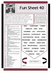 English Worksheets: Fun Sheet 40
