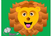 English Worksheets: Lion Gameboard (Matching Cards Available in Another File)