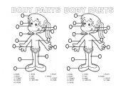 English Worksheets: Body Parts B/W