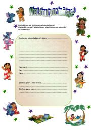English Worksheet: WINTER HOLIDAYS ARE OVER? WHAT DID YOU DO?
