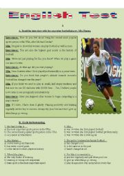 English Worksheet: TEST - SPORTS (Interview with female football player, Mia Hamm)