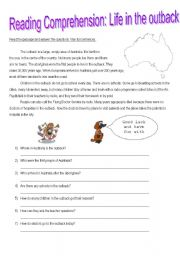 English Worksheets: LIFE IN THE OUTBACK