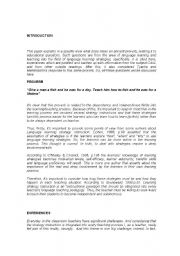 English Worksheets: Learning Strategies
