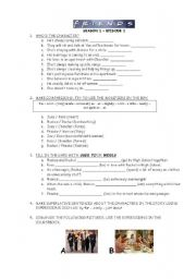 English Worksheet: Friends - tv series - Season 1 - Episode 1