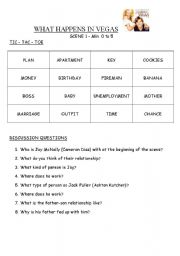 English Worksheets: WHAT HAPPENS IN VEGAS - MOVIE - First scenes
