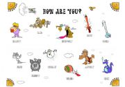 English worksheet: How are you? Wonderful, Colorful Classroom Poster