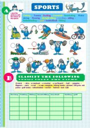 English Worksheet: Sports and equipment. Key included (editable)