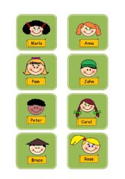 English Worksheet: Who Is Who Flashcards 1.