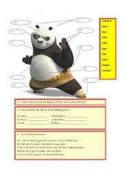 English Worksheets: panda body parts