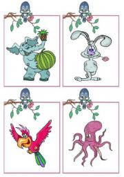 English Worksheets: Animals _ flashcards