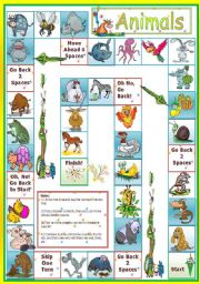 English Worksheet: Animals - game