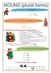 English Worksheets: Nouns (plural form)