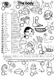 English Worksheet: THE BODY PUZZLE