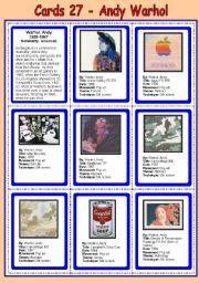 Cards 27 - Warhol, Andy - (POP ART)