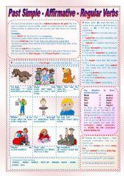 English Worksheet: Past Simple - Affirmative - Regular Verbs