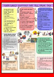 English Worksheet: VERBS EASILY CONFUSED: SAY, TELL, SPEAK, TALK
