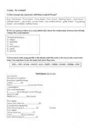 DON´T SPEAK _ SONG WORKSHEET