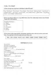 English Worksheets: DON´T SPEAK _ SONG WORKSHEET