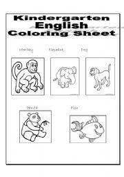 math worksheet : wild animals worksheet for kindergarten  65 free esl wild animals  : Animal Worksheet For Kindergarten