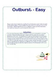 English Worksheets: Outburst