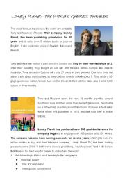 English Worksheets: Lonly Planet - World�s Greatest travellers