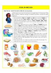 English Worksheets: Food in Britain