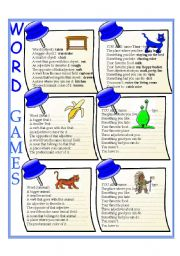 English Worksheets: Word games - elementary