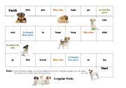 Irregular Verb Board Game 1/3