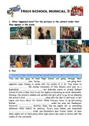 English Worksheets: High school musical 3